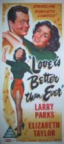 Love Is Better Than Ever 1952 DVD - Larry Parks / Elizabeth Taylor